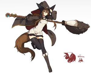 Rating: Safe Score: 66 Tags: boots brown_eyes brown_hair gloves goggles hat lansane long_hair original signed thighhighs witch witch_hat zettai_ryouiki User: RyuZU