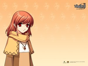 Rating: Safe Score: 10 Tags: braids brown_hair mabinogi necklace orange red_eyes triona User: 秀悟