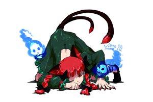 Rating: Safe Score: 38 Tags: animal_ears braids catgirl kaenbyou_rin oso red_eyes red_hair tail touhou User: PAIIS