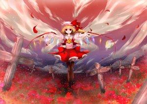 Rating: Safe Score: 29 Tags: blonde_hair dress flandre_scarlet hat red_eyes touhou vampire wings User: Tensa