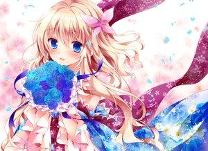 Rating: Safe Score: 48 Tags: aqua_eyes blonde_hair blush flowers japanese_clothes lolita_fashion long_hair nogi_takayoshi original petals ribbons rose waifu2x User: otaku_emmy