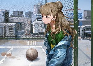 Rating: Safe Score: 39 Tags: basketball braids brown_hair building city headphones hoodie idolmaster idolmaster_cinderella_girls infukun kamiya_nao long_hair red_eyes rooftop signed sky sport User: otaku_emmy