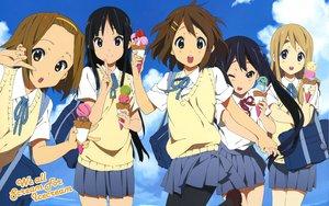 Rating: Safe Score: 103 Tags: akiyama_mio clouds food headband hirasawa_yui horiguchi_yukiko ice_cream k-on! kotobuki_tsumugi nakano_azusa sky tainaka_ritsu twintails User: meccrain