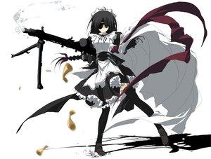 Rating: Safe Score: 37 Tags: eyepatch gun maid moekko_company n12 suzuri weapon white User: Oyashiro-sama