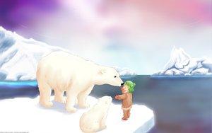 Rating: Safe Score: 31 Tags: animal bear koiwai_yotsuba landscape scenic yotsubato! User: 秀悟