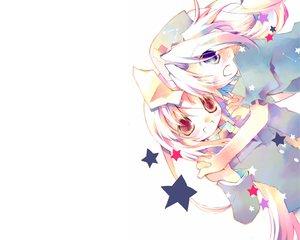 Rating: Safe Score: 21 Tags: 2girls animal_ears ayuka bunny_ears bunnygirl gray_hair long_hair purple_hair reisen_udongein_inaba touhou white yagokoro_eirin User: Oyashiro-sama