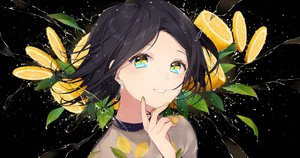 Rating: Safe Score: 30 Tags: black black_hair close food fruit original short_hair sogawa66 water yellow_eyes User: otaku_emmy