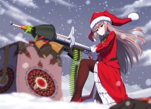 Rating: Safe Score: 33 Tags: christmas fate/grand_order fate_(series) florence_nightingale gloves gun hat kuroshiro_(ms-2420) long_hair pantyhose pink_hair red_eyes santa_costume santa_hat snow suit weapon User: Nepcoheart