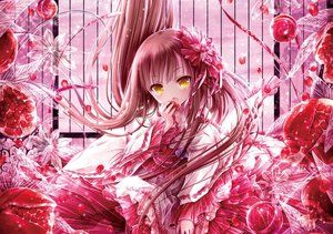 Rating: Safe Score: 79 Tags: food fruit jpeg_artifacts loli lolita_fashion pink tinkle yellow_eyes User: RyuZU