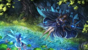 Rating: Safe Score: 75 Tags: 2girls animal aqua_hair armor barefoot blonde_hair bow cirno crossover crystal_maiden dota_2 dress fairy fish forest grass hoodie leaves long_hair short_hair staff touhou tree water wings wristwear zi_ye_(hbptcsg2) User: FormX