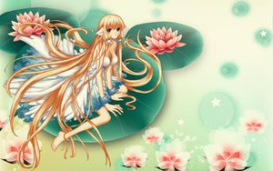 Rating: Safe Score: 31 Tags: blonde_hair brown_eyes chii chobits dress flowers long_hair tsubasa_reservoir_chronicle water User: gnarf1975