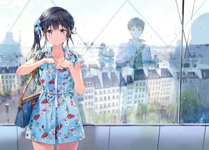 Rating: Safe Score: 91 Tags: adagaki_aki black_hair blush building city dress drink gray_eyes long_hair makabe_masamune male masamune-kun_no_revenge necklace ponytail reflection short_hair tiv User: luckyluna