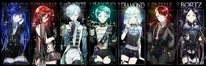 Rating: Safe Score: 71 Tags: antarcticite aqua_eyes aqua_hair black black_hair blue_eyes blue_hair bort cinnabar diamond_(houseki_no_kuni) ekita_xuan elbow_gloves garter_belt gloves green_eyes green_hair houseki_no_kuni lapis_lazuli_(houseki_no_kuni) long_hair military necklace phosphophyllite red_eyes red_hair rutile see_through short_hair shorts skirt stockings thighhighs uniform watermark yellow_eyes User: RyuZU