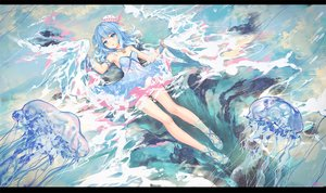 Rating: Safe Score: 116 Tags: animal aqua_eyes aqua_hair atdan dress fish original summer_dress vocaloid water User: luckyluna