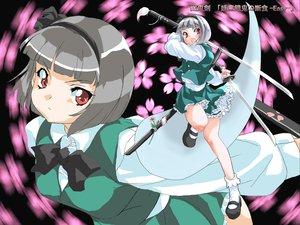 Rating: Safe Score: 2 Tags: katana konpaku_youmu myon sword touhou weapon User: Oyashiro-sama