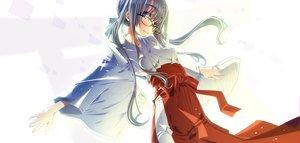 Rating: Safe Score: 33 Tags: blush glasses gray_hair japanese_clothes long_hair miko original purple_eyes sakuya_tsuitachi white User: RyuZU