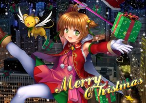 Rating: Safe Score: 52 Tags: brown_hair building card_captor_sakura christmas city gloves green_eyes kero kinomoto_sakura moonknives night pantyhose short_hair User: gnarf1975