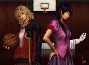 Rating: Safe Score: 33 Tags: 2girls ball basketball blonde_hair eeotoko hanamonogatari kanbaru_suruga monogatari_(series) numachi_rouka sport User: propeller03