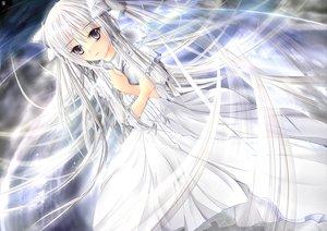 Rating: Safe Score: 133 Tags: garyljq gray_eyes kasugano_sora long_hair ribbons twintails white_hair yosuga_no_sora User: Tensa
