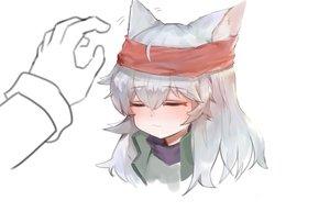 Rating: Safe Score: 43 Tags: animal_ears anthropomorphism catgirl cat_smile dokomon g11_(girls_frontline) girls_frontline gray_hair headband long_hair white User: RyuZU