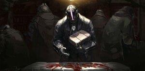 Rating: Safe Score: 21 Tags: all_male armor blood bondrewd dark gloves homunculus_no_jinzou made_in_abyss male User: SnekNOTSnake