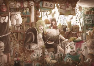 Rating: Safe Score: 176 Tags: apple blonde_hair bloomers book doll dress drink food fruit glasses hakurei_reimu hat instrument katana kirisame_marisa knife lif_(lif-ppp) mask necklace rubber_duck skull sword teddy_bear touhou translation_request violin weapon witch witch_hat yellow_eyes User: Flandre93