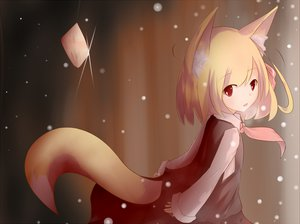 Rating: Safe Score: 61 Tags: animal_ears food foxgirl red_eyes rumia tail touhou User: HawthorneKitty