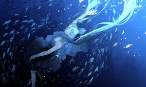 Rating: Safe Score: 36 Tags: aliasing animal bubbles deep-sea_girl_(vocaloid) fish hatsune_miku underwater vocaloid water xiaonuo_(1906803064) User: FormX