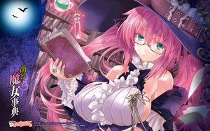 Rating: Safe Score: 133 Tags: book erect_nipples glasses green_eyes miwa_yoshikazu pink_hair tagme witch User: Wiresetc