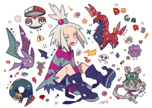 Rating: Safe Score: 14 Tags: amoonguss auko bike_shorts boots crobat dress garbodor gray_hair green_eyes homika_(pokemon) koffing pokemon ponytail scolipede seviper short_hair shorts signed User: otaku_emmy