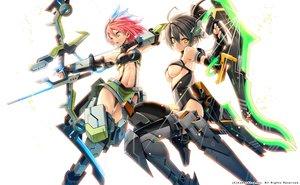 Rating: Safe Score: 95 Tags: 2girls bow_(weapon) cosmic_break mechagirl morizo_cs underboob weapon User: FormX