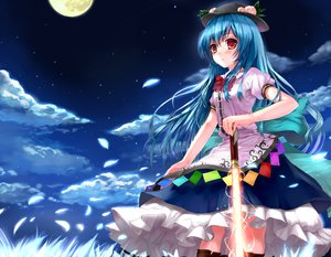 Rating: Safe Score: 82 Tags: clouds hat hinanawi_tenshi long_hair momoko_(momopoco) moon night stars touhou User: HawthorneKitty