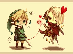 Rating: Safe Score: 6 Tags: all_male aqua_eyes blonde_hair boots brown_eyes cape chibi ghirahim gloves hat heart hoodie link_(zelda) male orqz pointed_ears short_hair sword the_legend_of_zelda weapon white_hair wink User: otaku_emmy