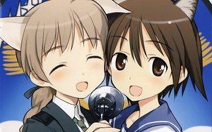 Rating: Safe Score: 47 Tags: close lynette_bishop miyafuji_yoshika shimada_fumikane strike_witches User: meccrain