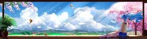 Rating: Safe Score: 86 Tags: animal aqua_hair barefoot bird blue_hair cherry_blossoms clouds dualscreen grass hatsune_miku headphones landscape long_hair scenic shorts sky tree vocaloid wei_ji User: Flandre93