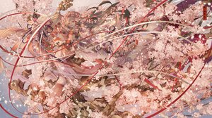 Rating: Safe Score: 37 Tags: bell brown_hair cherry_blossoms flowers japanese_clothes kimono long_hair nanahara_shie original ribbons tree User: BattlequeenYume