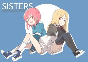 Rating: Safe Score: 27 Tags: 2girls blonde_hair blue bural_chingu hoodie kneehighs lee_ji-eun lee_ji-min long_hair luke_(dydansgur) pink_eyes pink_hair red_eyes short_hair thighhighs User: otaku_emmy