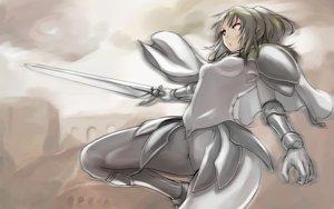 Rating: Safe Score: 72 Tags: armor blonde_hair cape claymore miria ponytail sword tea_(nakenashi) weapon User: PAIIS