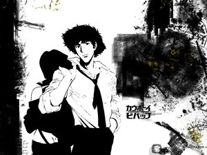 Rating: Safe Score: 23 Tags: aliasing all_male cowboy_bebop male spike_spiegel tie User: Oyashiro-sama