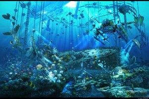 Rating: Safe Score: 130 Tags: animal arsenixc boat bubbles chain fish original scenic underwater water User: opai