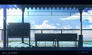 Rating: Safe Score: 22 Tags: clouds nobody original signed silhouette train waisshu_(sougyokyuu) watermark User: RyuZU