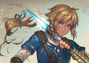 Rating: Safe Score: 20 Tags: all_male aqua_eyes blonde_hair gloves kawacy link_(zelda) male pointed_ears ribbons signed spear the_legend_of_zelda weapon User: otaku_emmy