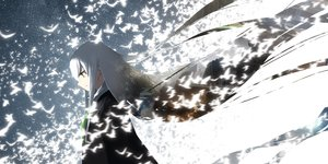 Rating: Safe Score: 85 Tags: animal asuteroid bird building city green_eyes iz_(asuteroid) long_hair magic original ruins white_hair User: otaku_emmy