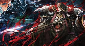 Rating: Safe Score: 130 Tags: ainz_ooal_gown all_male armor blood horns male overlord skull so-bin weapon User: otaku_emmy