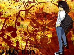 Rating: Safe Score: 11 Tags: all_male brown_hair green_eyes kiba male short_hair wolfs_rain User: Oyashiro-sama