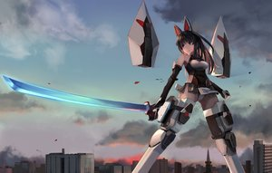 Rating: Safe Score: 54 Tags: agatsuma_kaede alice_gear_aegis animal animal_ears armor bird brown_eyes brown_hair building city clouds elbow_gloves gloves mechagirl panties ponytail scenic sky sunga2usagi sword underwear weapon User: BattlequeenYume