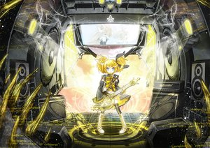 Rating: Safe Score: 35 Tags: 218 blonde_hair blue_eyes guitar instrument kagamine_rin vocaloid User: HawthorneKitty