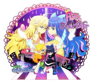 Rating: Safe Score: 59 Tags: blonde_hair blue_hair chuck gun kamiya_zuzu katana panty_&_stocking_with_garterbelt panty_(character) stocking_(character) sword weapon white User: HawthorneKitty