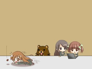 Rating: Safe Score: 22 Tags: 2ch animal bear brown chibi computer fukuzawa_yumi jpeg_artifacts maria-sama_ga_miteru ogasawara_sachiko pedobear toudou_shimako User: Oyashiro-sama