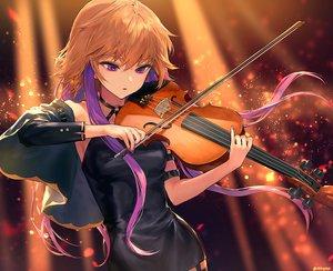 Rating: Safe Score: 56 Tags: ainy77 brown_hair dress idolmaster idolmaster_cinderella_girls instrument long_hair ninomiya_asuka purple_eyes violin watermark User: BattlequeenYume